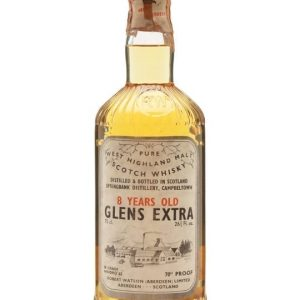 Glens Extra (Springbank) 8 Year Old / Bot.1960s Campbeltown Whisky