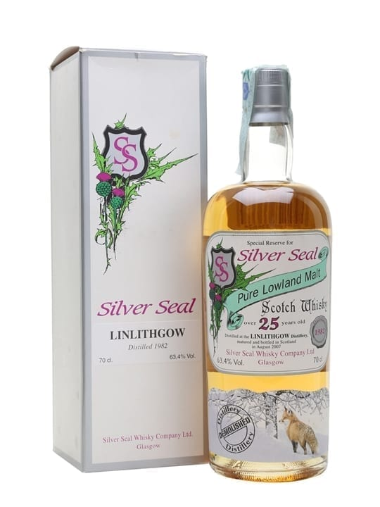 Linlithgow 1982 / 25 Year Old / Silver Seal Lowland Whisky