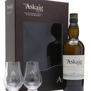 Port Askaig 8 Year Old Glass Set Islay Single Malt Scotch Whisky