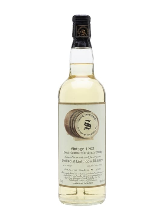 Linlithgow 1982 / 17 Year Old / Signatory Lowland Whisky
