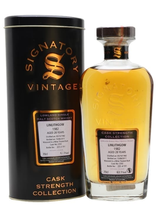 Linlithgow 1982 / 28 Year Old / Signatory Lowland Whisky