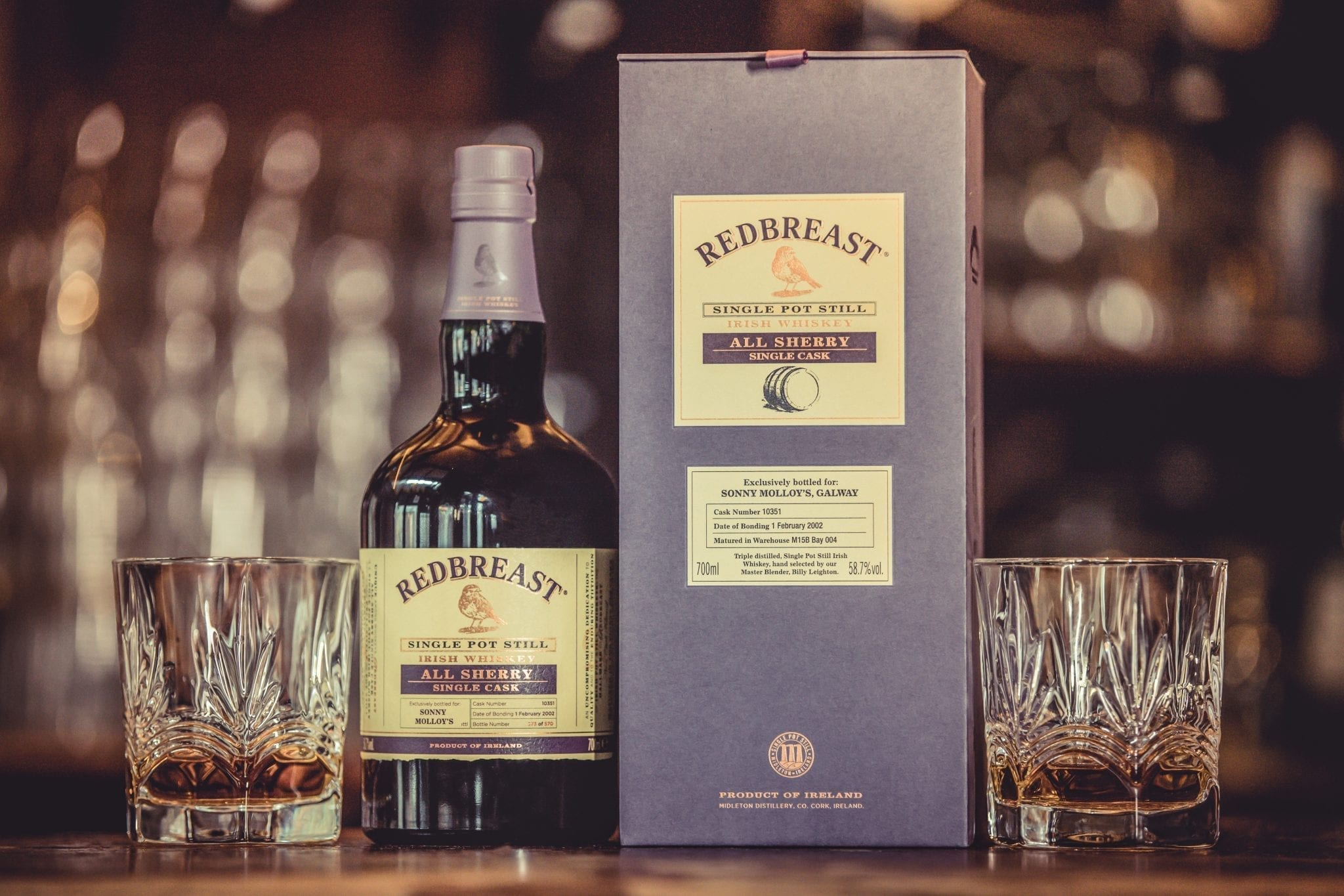Sonny Molloys Redbreast 16 Year Old Single Pot Still Irish Whiskey Gift Set
