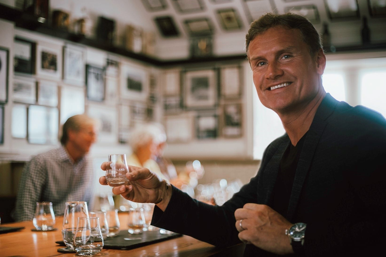Highland Park Distillery Saltire Scotch Whisky with David Coulthard by Stuart McNamara Whiskey Blogger