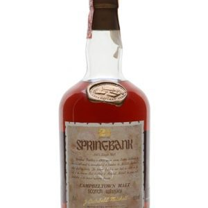 Springbank 21 Year Old / Bot.1980s Campbeltown Whisky