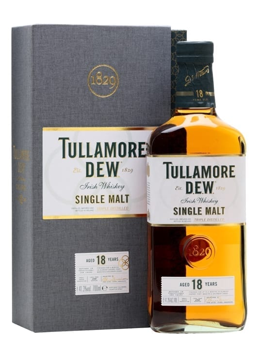 Tullamore Dew 18 Year Old Single Malt Irish Whiskey