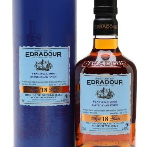 Edradour 2000 / 18 Year Old / Barolo Finish Highland Whisky