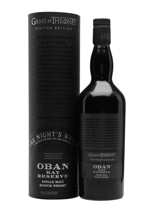Oban Bay Reserve / Game of Thrones Night's Watch Highland Whisky