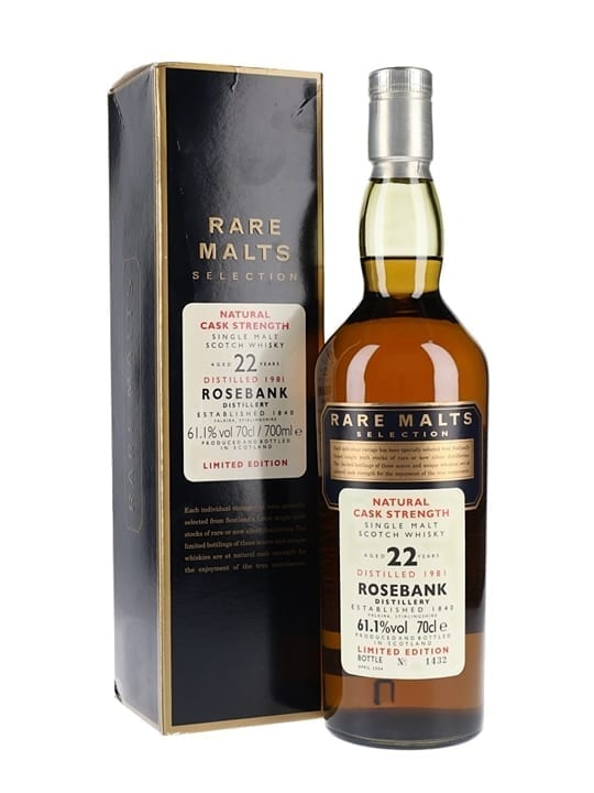 Rosebank 1981 / 22 Year Old / Rare Malts Lowland Whisky