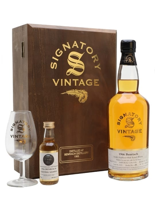 Benriach 1966 Set With Glass &Amp; Miniature / 35 Year Old Speyside Whisky