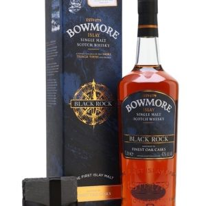 Bowmore Black Rock with Free Coaster / Litre Islay Whisky