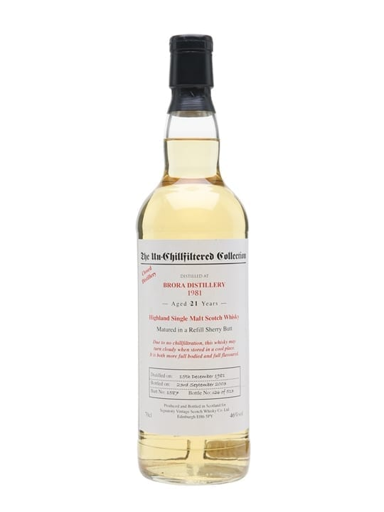 Brora 1981 / 21 Year Old / Signatory Highland Whisky