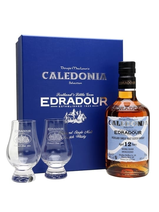 Edradour 12 Year Old Caledonia Selection Glass Pack Highland Whisky