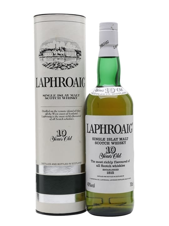 Laphroaig 10 Year Old / Bot.1990s / Pre Royal Warrant Islay Whisky
