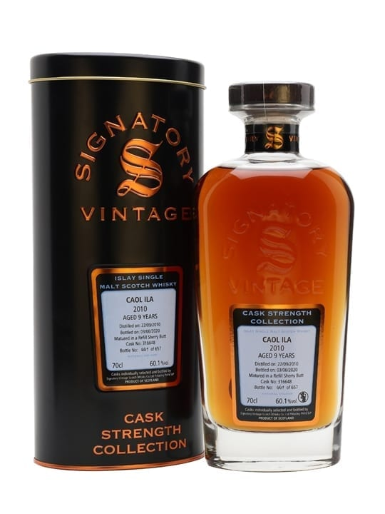 Caol Ila 2010 / 9 Year Old / Signatory Islay Single Malt Scotch Whisky