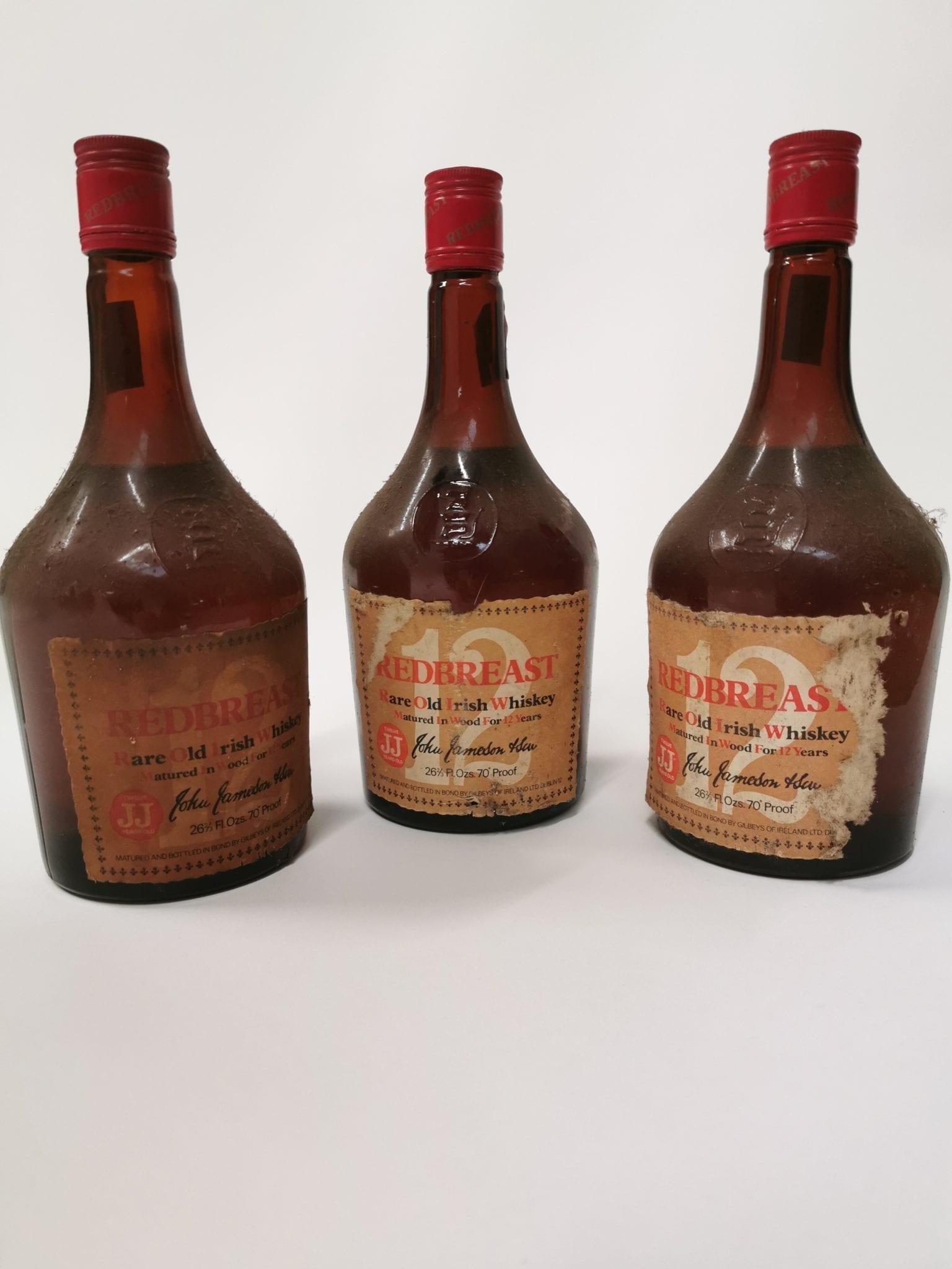 irish whiskey memorabilia, redbreast irish whiskey gilbeys