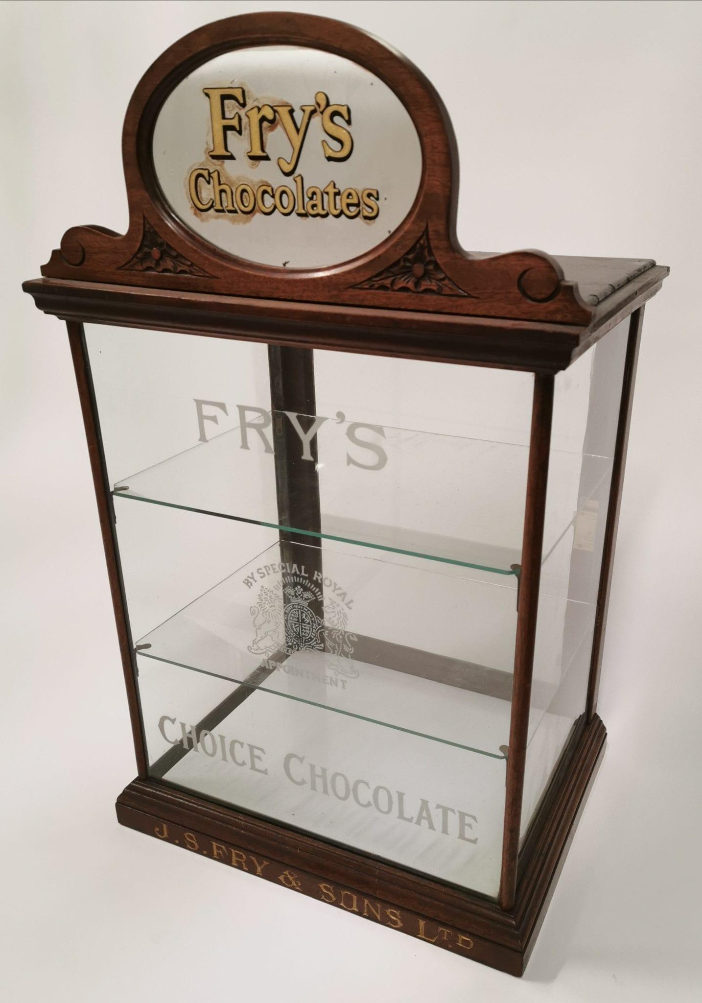 irish whiskey memorabilia, frys chocolate stand