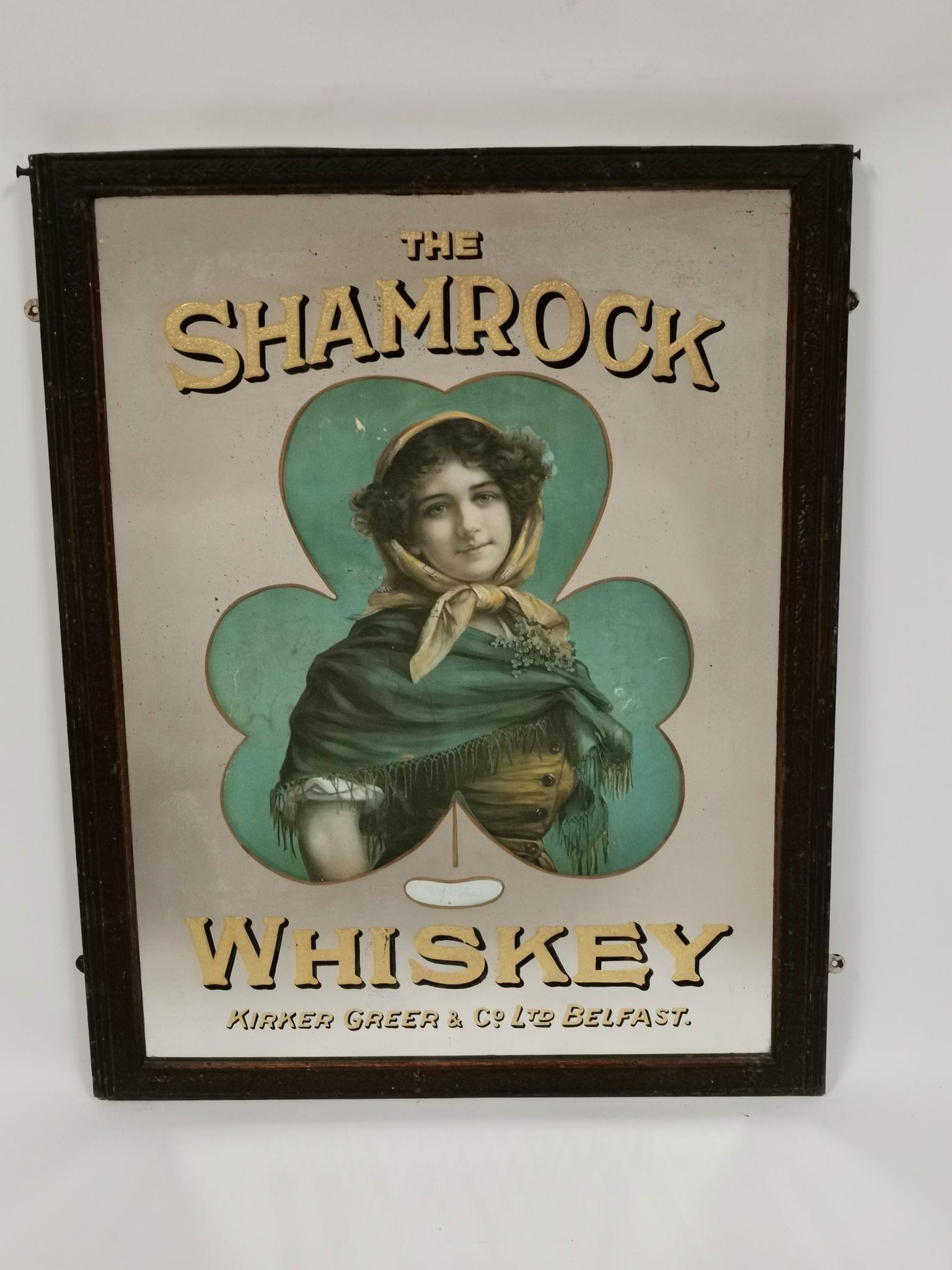 irish whiskey memorabilia, irish whiskey mirror