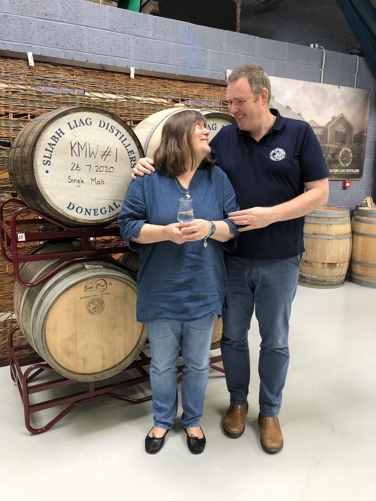 James Doherty, Moira Doherty At Sliabh Liag Irish Whiskey Distillery