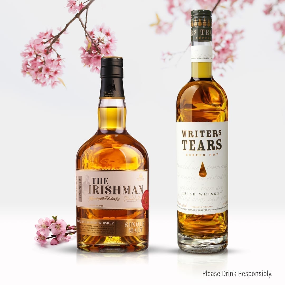 Irish Whiskey Blog Walsh Whiskey The Irishman and Writers Tears Asia, Japan, taiwan,malaysia