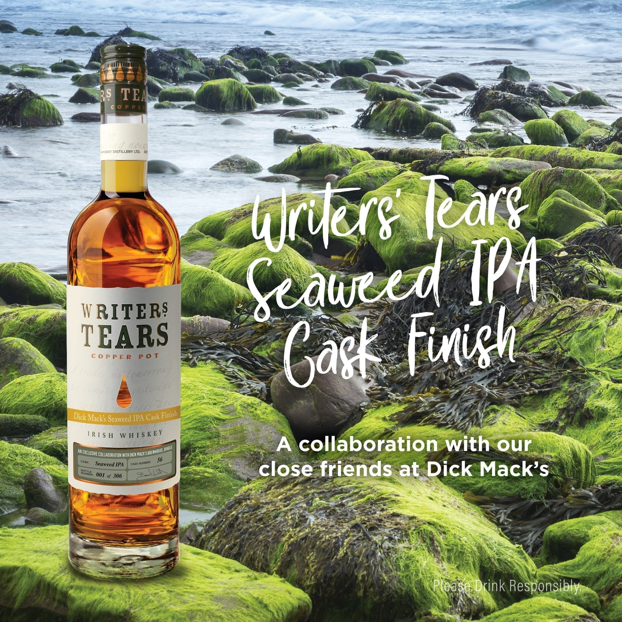 Writers' Tears Seaweed IPA Cask Finish between Walsh Whiskey & Dick Mack's