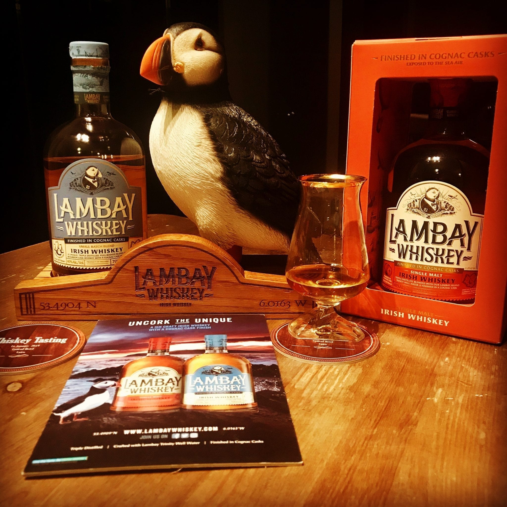 Lambay Whiskey Tours and Lambay Whiskey Puffin Irish Whiskey Trail