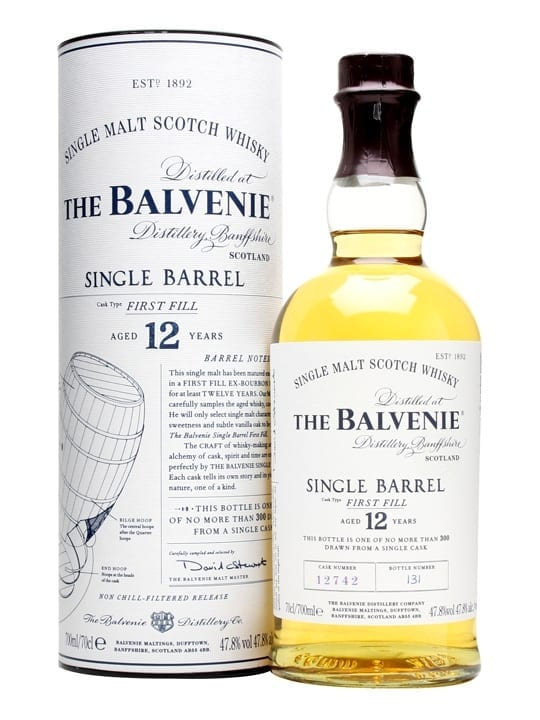 Balvenie 12 Year Old / Single Barrel First Fill Speyside Whisky