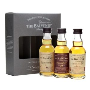 Balvenie / Doublewood 12 & 17 Year Old, Caribbean 14 Year Old 3x5cl Speyside Whisky