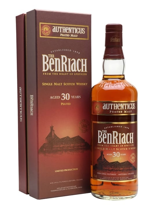 Benriach 30 Year Old Authenticus Peated Speyside Whisky