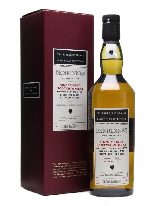 Benrinnes 1996 / 12 Year Old / Managers' Choice Speyside Whisky