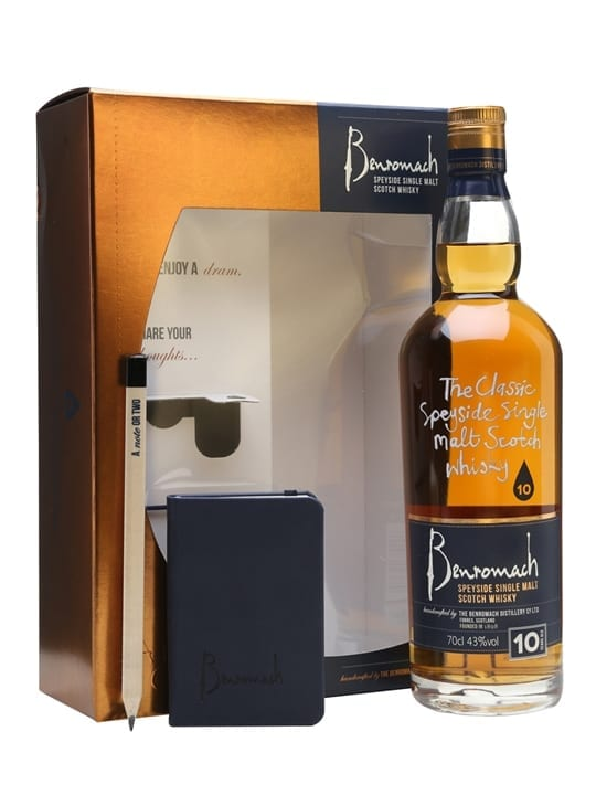 Benromach 10 Year Old / Note Book Gift Set Speyside Whisky
