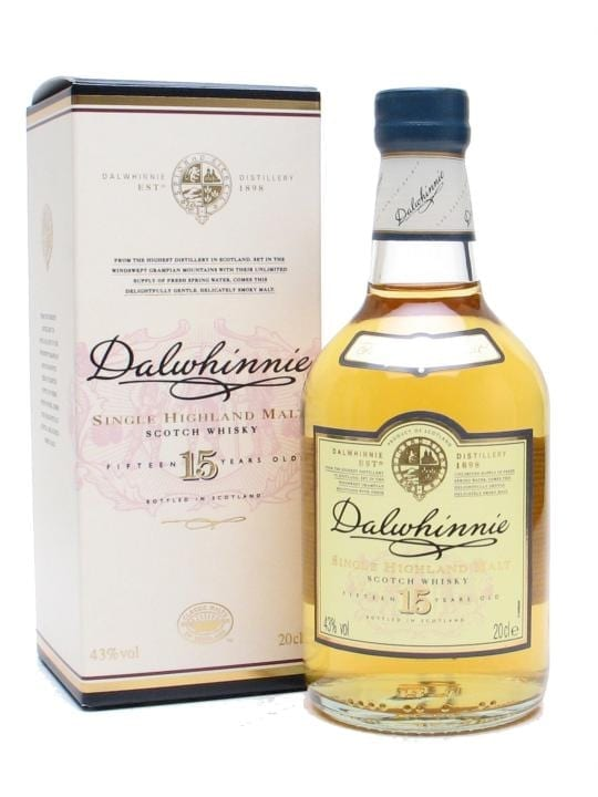 Dalwhinnie 15 Year Old / Small Bottle Speyside Whisky