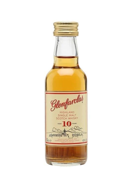 Glenfarclas 10 Year Old / Miniature Speyside Single Malt Scotch Whisky
