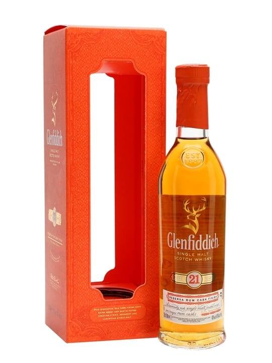 Glenfiddich 21 Year Old / Reserva Rum Finish / Small Bottle Speyside Whisky