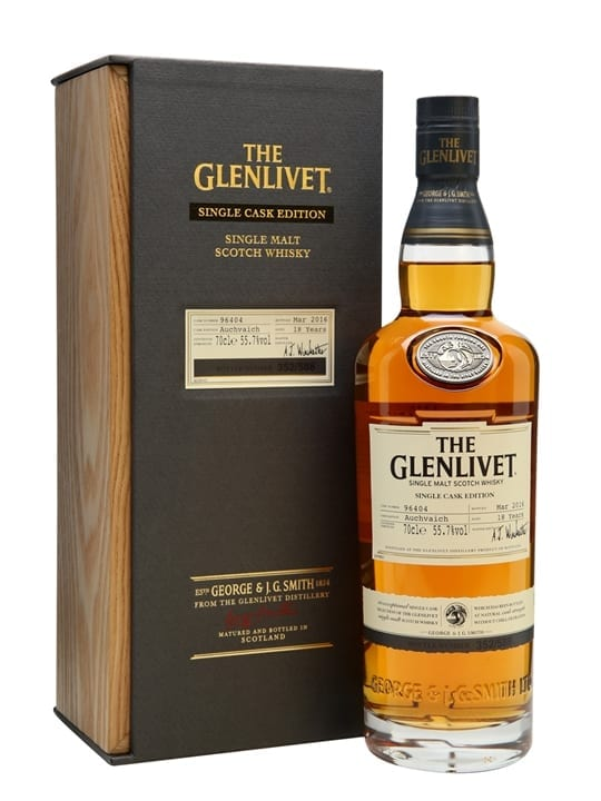 Glenlivet 18 Year Old Auchvaich / Single Cask Speyside Whisky