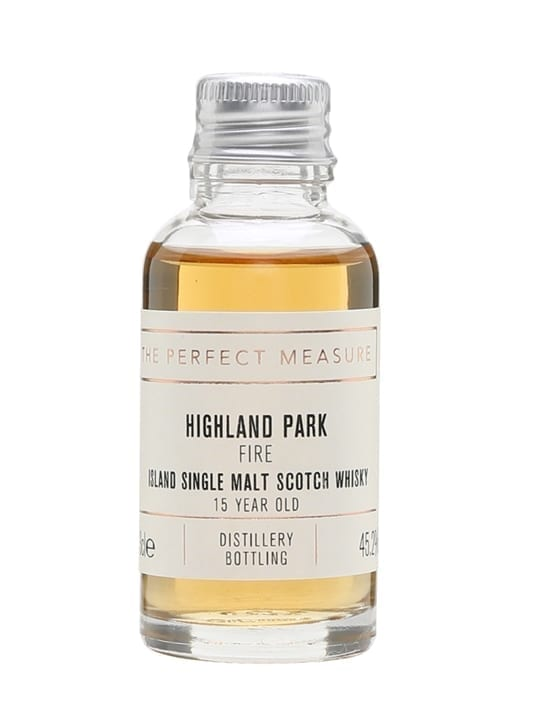 Highland Park Fire 15 Year Old Sample Island Single Malt Scotch Whisky