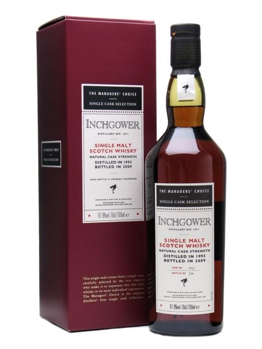 Inchgower 1993 / Managers' Choice / Sherry Cask Speyside Whisky