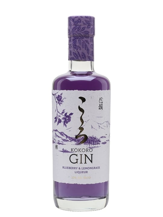 Kokoro Blueberry and Lemongrass Gin Liqueur