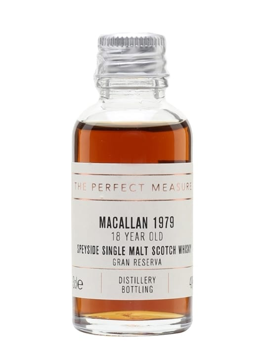Macallan 1979 Sample / 18 Year Old / Gran Reserva Speyside Whisky