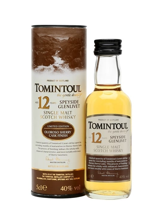 Tomintoul 12 Year Old / Oloroso Sherry Speyside Whisky