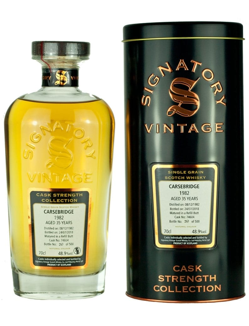 Carsebridge 35 Year Old 1982 Signatory Cask Strength