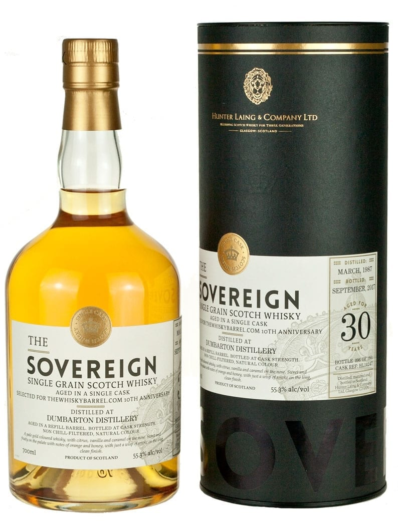 Dumbarton 30 Year Old 1987 Sovereign 10th Anniversary
