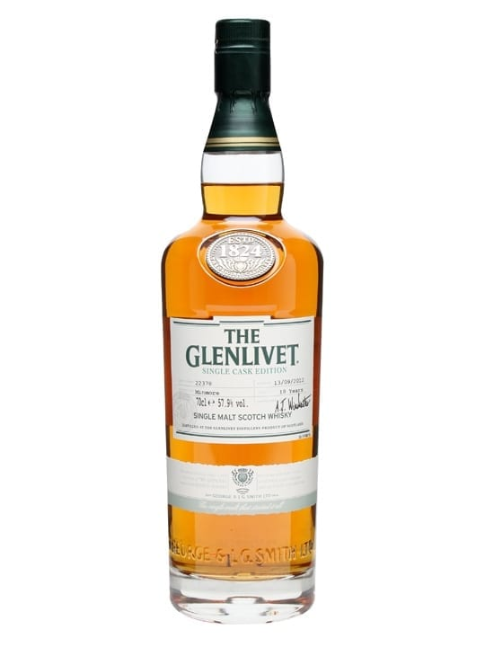 Glenlivet 18 Year Old / Minmore / Single Cask #22378 Speyside Whisky