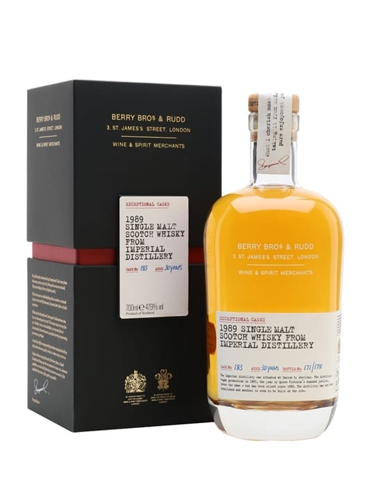 Imperial 1989 / 30 Year Old / Berry Bros & Rudd Speyside Whisky