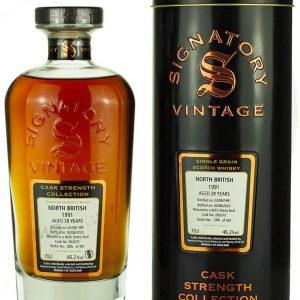 North British 28 Year Old 1991 Signatory Cask Strength