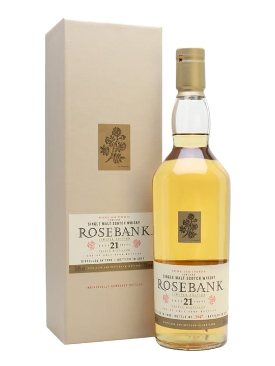 Rosebank 1990 / 21 Year Old / Special Releases 2011 Lowland Whisky
