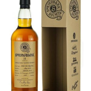 Springbank 15 Year Old 2003 Society Fresh Port Cask