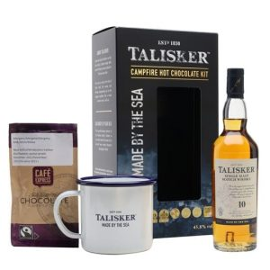 Talisker 10 Year Old Campfire Hot Chocolate Gift Pack / Small Bottle Island Whisky