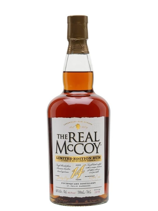 The Real McCoy 14 Year Old Bourbon Cask Single Traditional Blended Rum