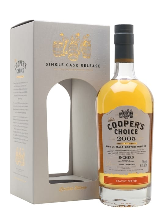 Inchfad Heavily Peated 2005 / 15 Year Old / The Cooper's Choice Highland Whisky