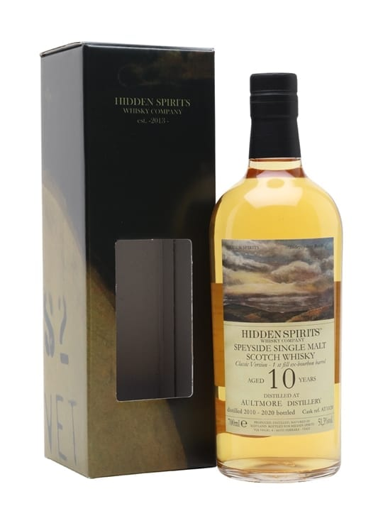Aultmore 2010 / 10 Year Old / Hidden Spirits Speyside Whisky